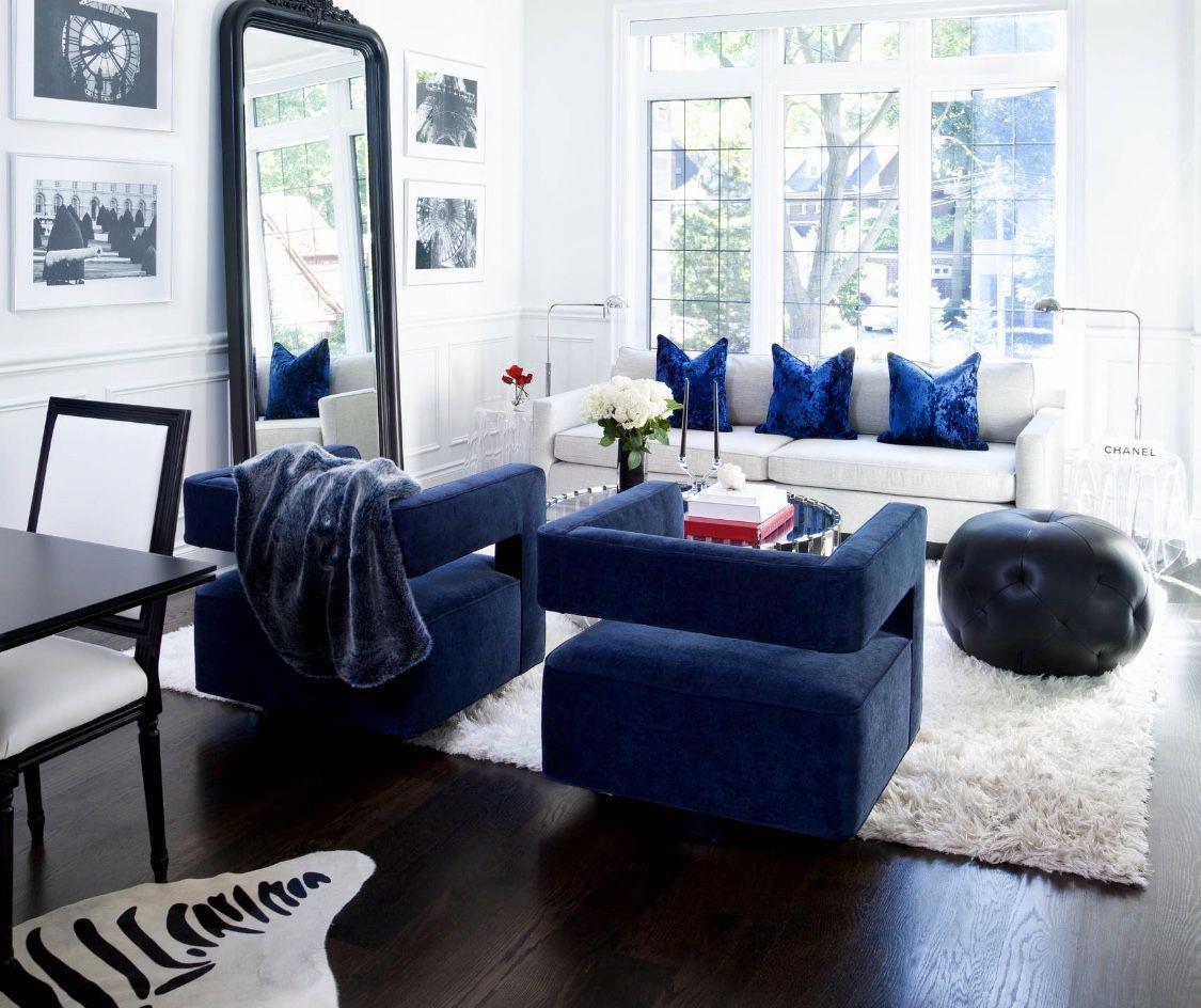 Navy Blue Sofa Navy Blue Velvet Chair Royal Blue Decor Nautical
