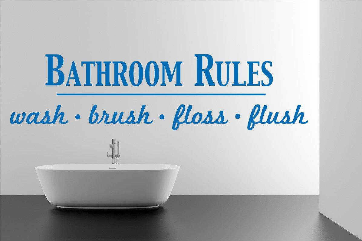 Bathroom Rules Wall Decal Products Pinterest Bathroom Rules - Wall decals bathroom