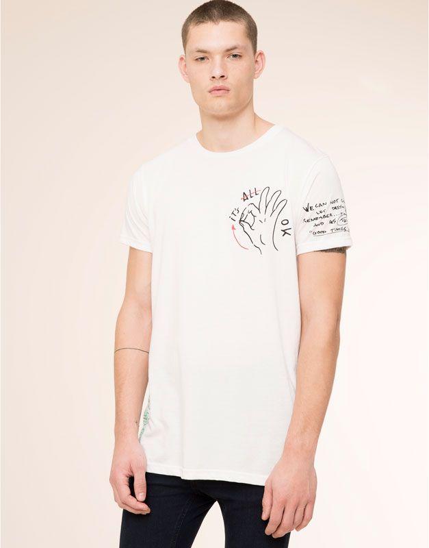 f7f26dea96f41 Pull Bear - hombre - camisetas - camiseta manga corta estampada - blanco -  05238568-I2015