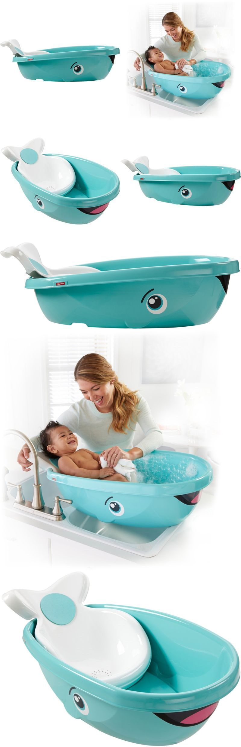 Whale Design Shower Bath Safety Seat Tub Bathtub for Baby Kids ...