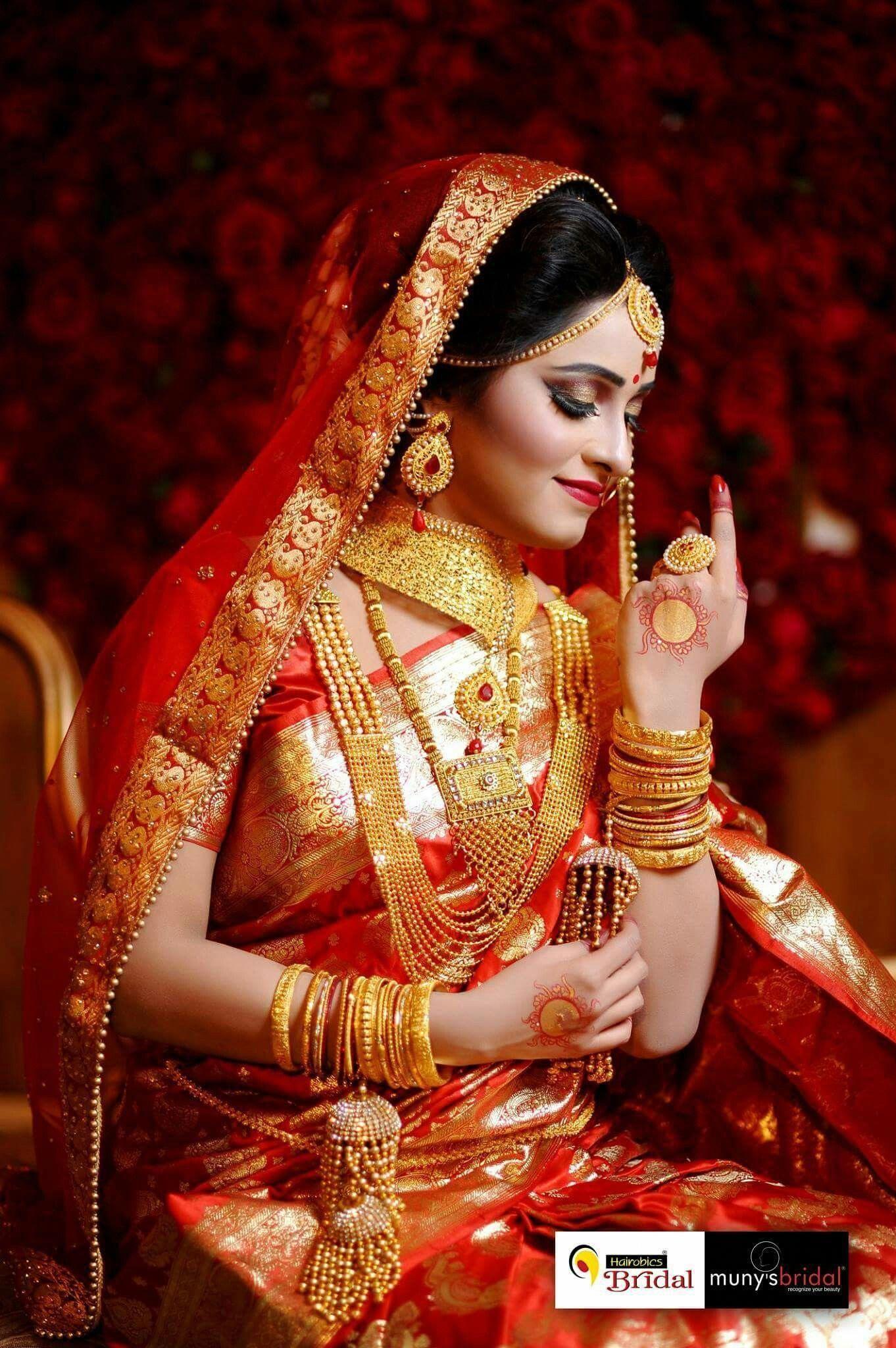 Beautiful wedding women indian wedding poses bengali