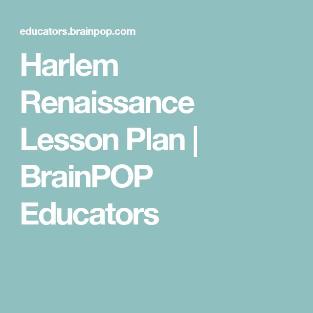 Harlem Renaissance Lesson Plan | BrainPOP Educators | Educational ...