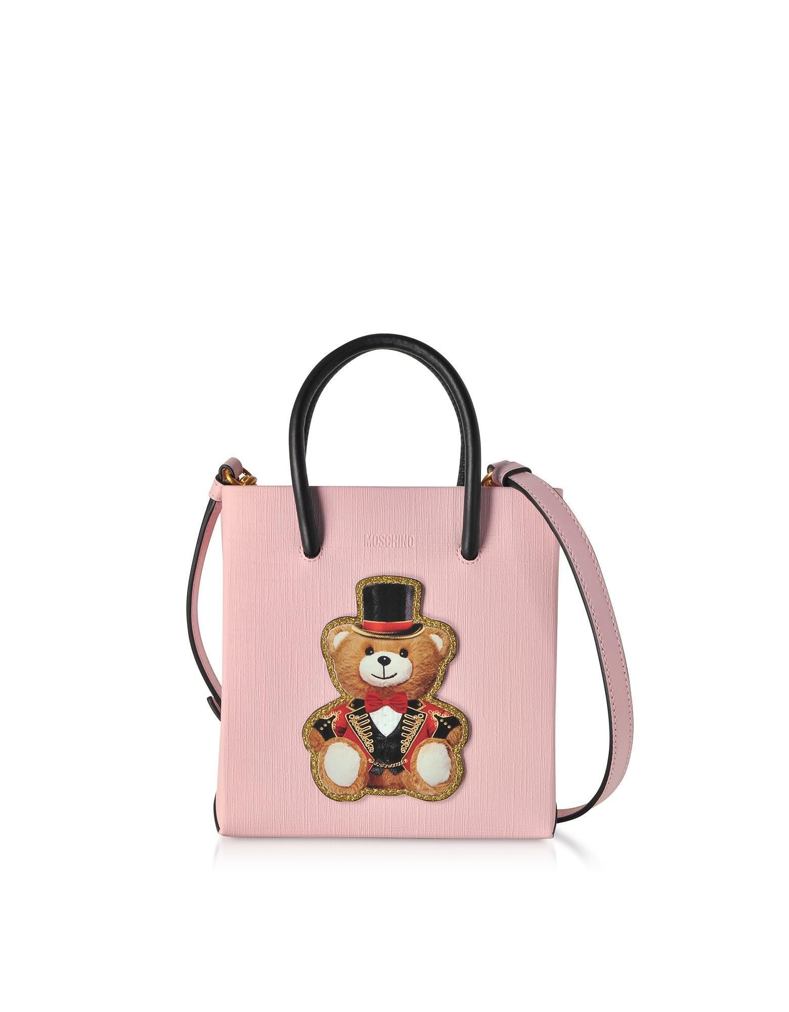 b5be8e5d7f #AdoreWe #Italist - #Moschino Moschino Teddy Bear Leather Mini Tote Bag -  AdoreWe.com