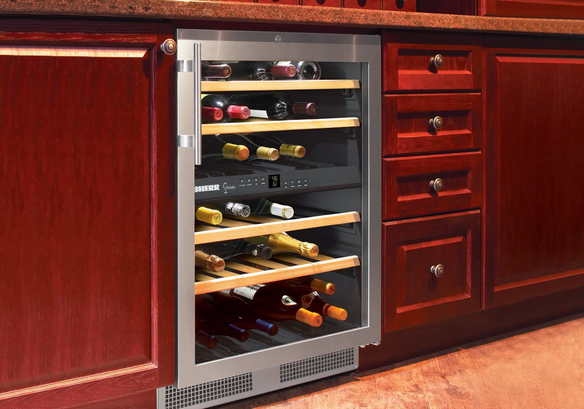 How To Install A Wine Cooler Under Counter Built In Wine Cooler Wine Cabinets Wine Fridge