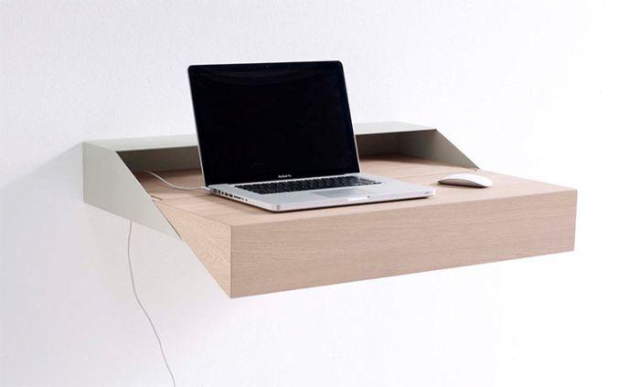 Desk Box Minimalistisch Arbeiten Schreibtisch An Der Wand