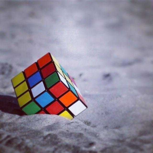 Rubik S Cube At The Beach Rubiks Cube Rubix Cube Cube