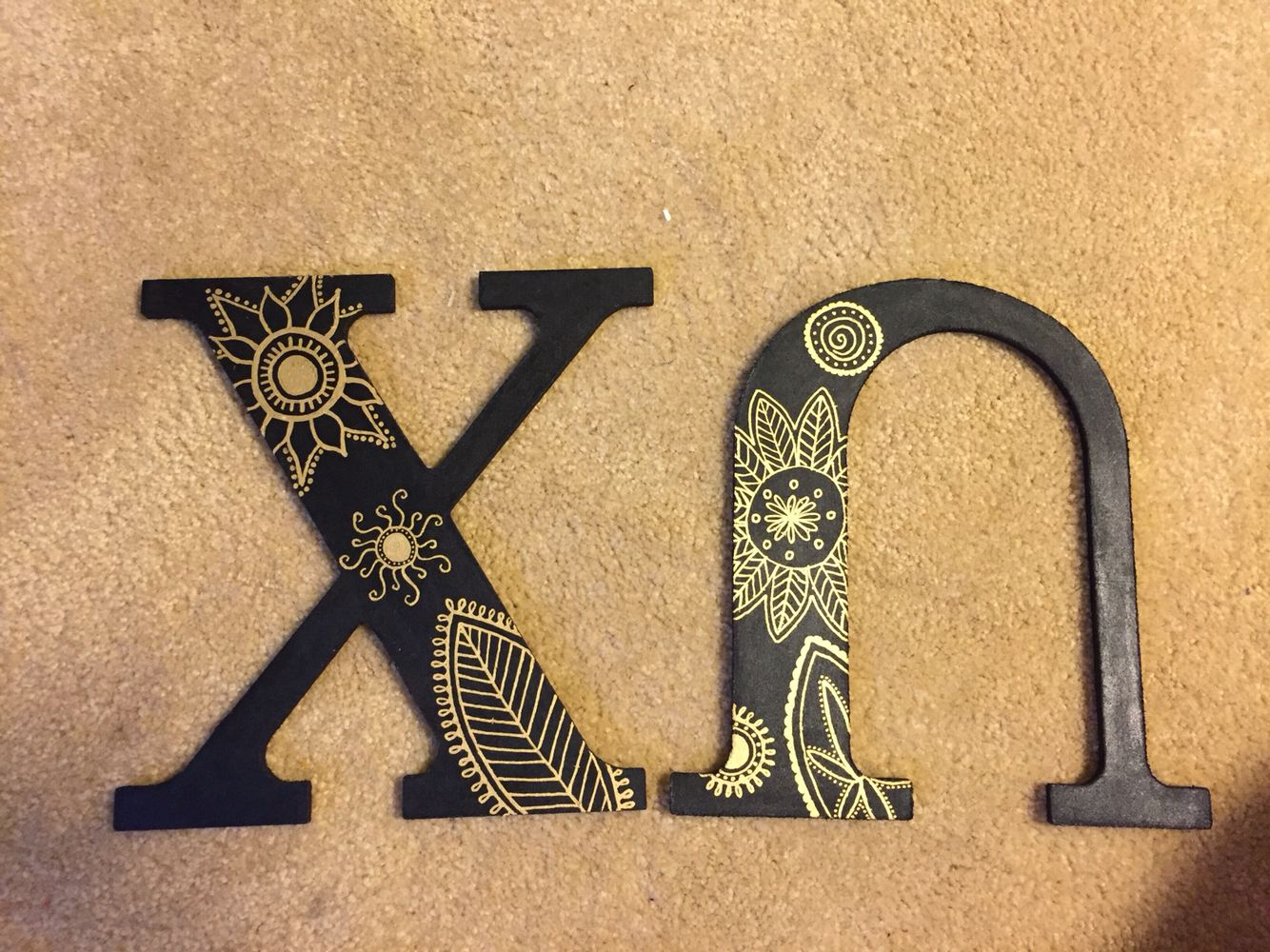 Paint pens for wood crafts - Gold Paint Pen On Black Paint Easy To Do Chi Omega Letters Painted