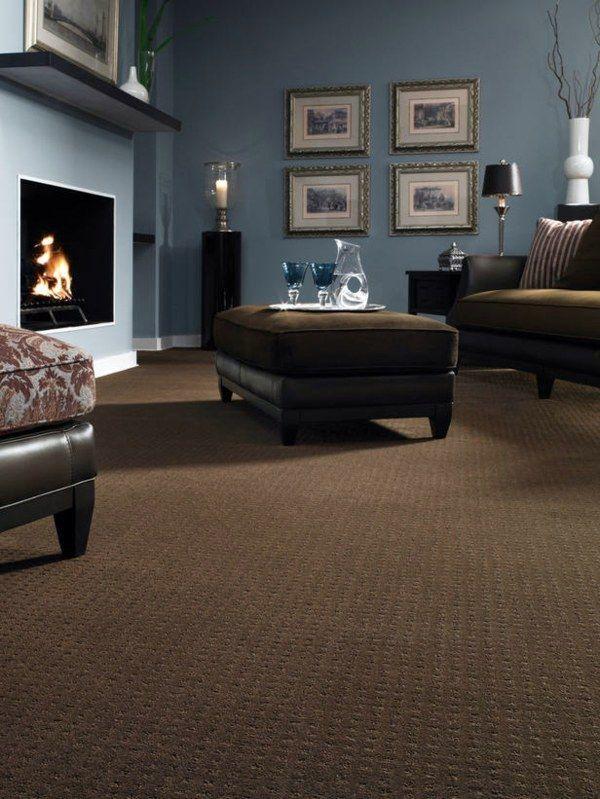Dark brown carpet in living room for Dark brown carpet living room