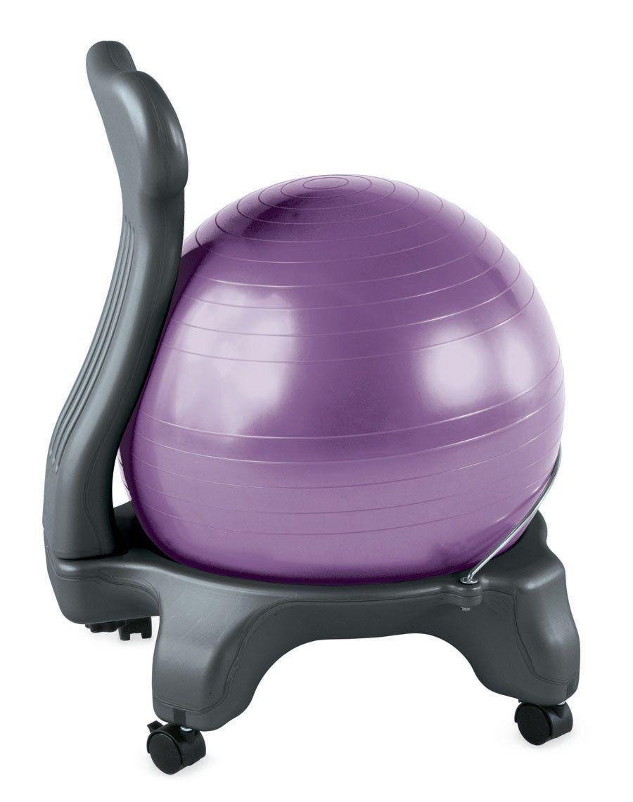 Amazon Com Gaiam Balance Ball Chair Purple Exercise Balls Sports Outdoors Exercise Ball Chairs Ball Chair Balance Ball Chair
