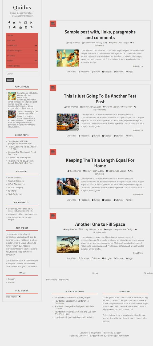 Quidus Blogger Template: Quidus is a minimal, fully responsive, SEO ...
