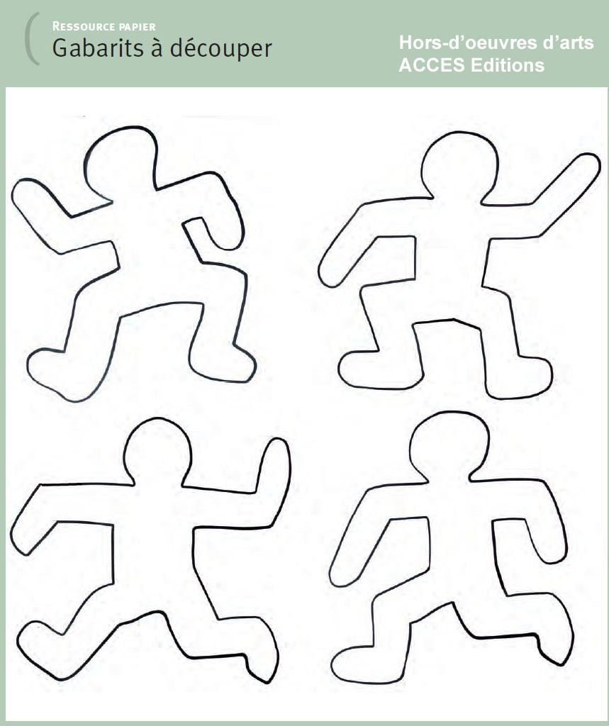 Keith haring coloriage maternelle recherche google for Keith haring figure templates
