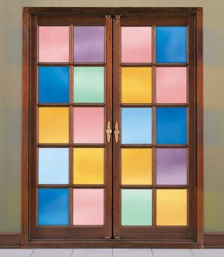 Decorative front door window tint reflects the ambience - Interior window tinting for privacy ...