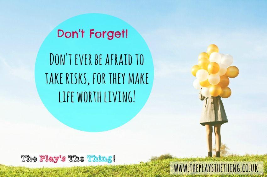 Don't be afraid to take risks http://www.theplaysthething.co.uk