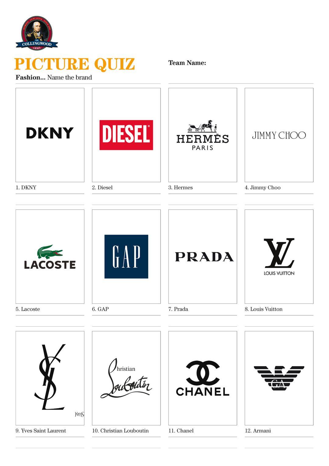 Resultado de imagen para fashion logos quiz