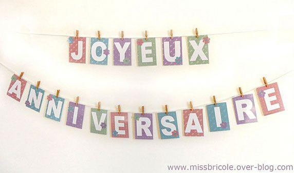 Banderole Danniversaire à Imprimer Kiddies Banderole Joyeux