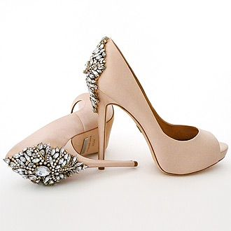 purchase cheap 3c7f0 4d63f Badgley Mischka, Kiara, Blush Wedding Shoes | Weddings ...