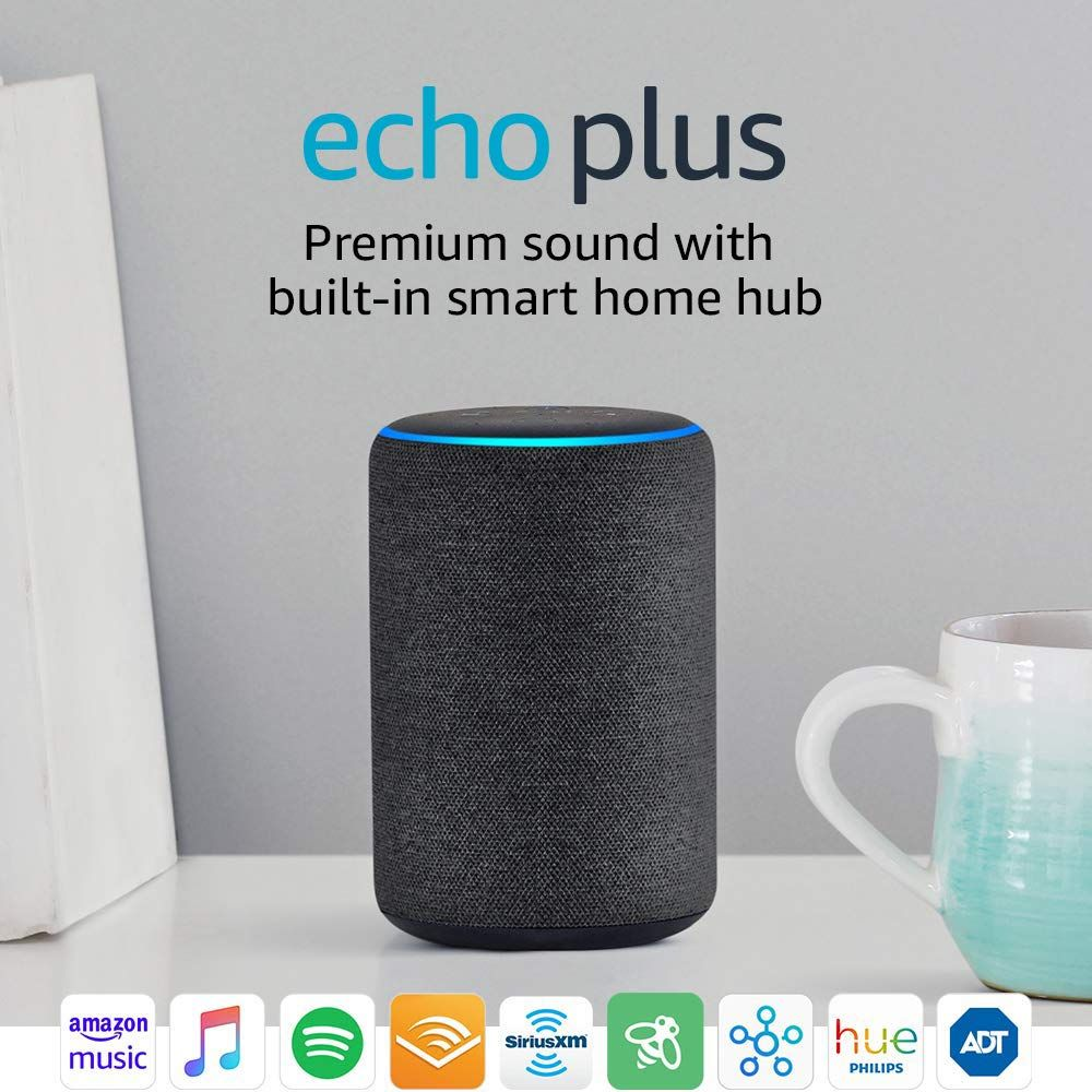 Echo Plus Has A Built In Zigbee Hub To Easily Setup And Control Your Compatible Smart Home Devices And An Improved With Images Smart Home Amazon Devices Philips Hue Bulbs
