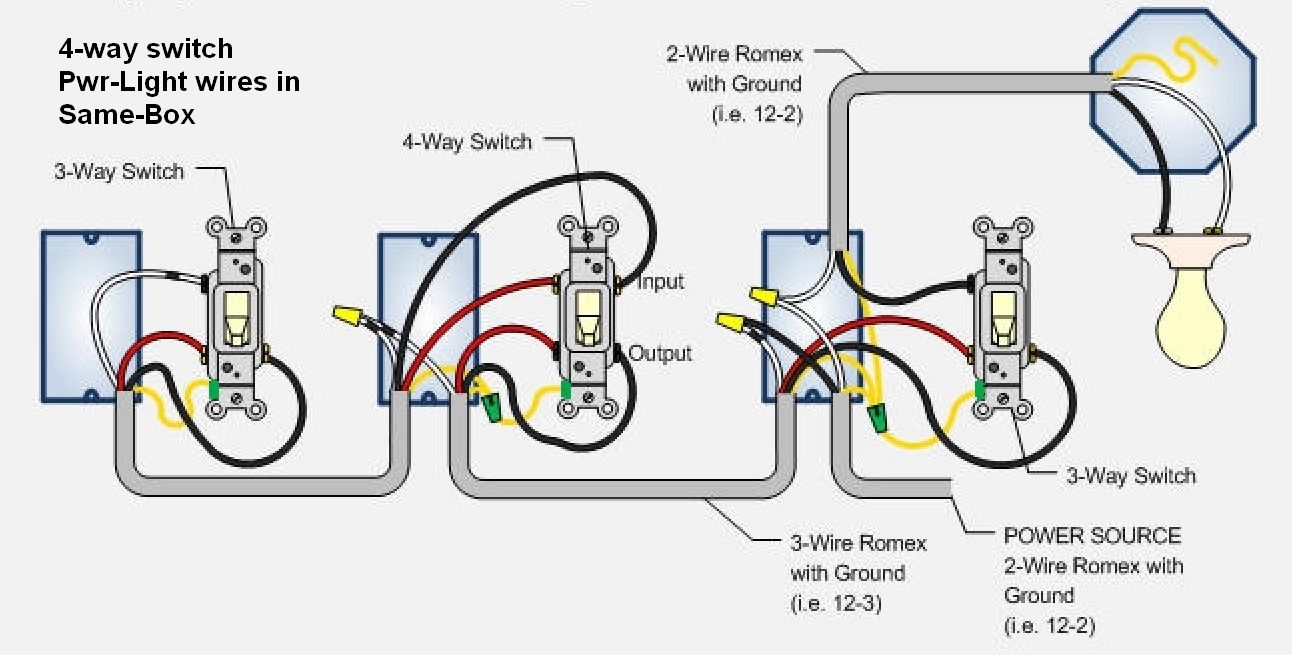 4 Way Switch Wiring Diagram Readingrat Net Inside Four Light Switch Wiring Electrical Switches Electrical Wiring