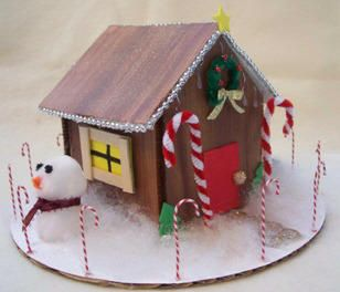 Make a gingerbread house decoration from foam core board   Christmas ...