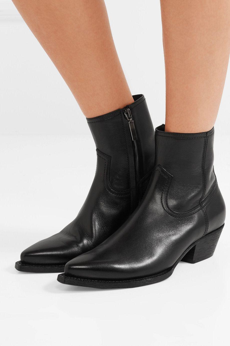 b9ab1ea94033 Saint Laurent | Lukas leather ankle boots | NET-A-PORTER.COM ...