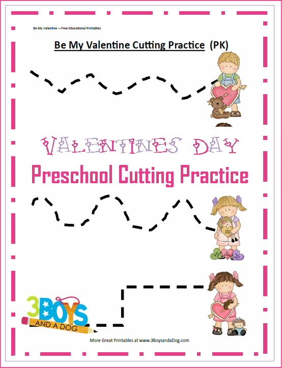 valentine preschool cutting practice printable worksheets kid blogger network activities. Black Bedroom Furniture Sets. Home Design Ideas