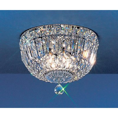 10 Light Empress Crystal Chandelier with Faceted Crystal Balls
