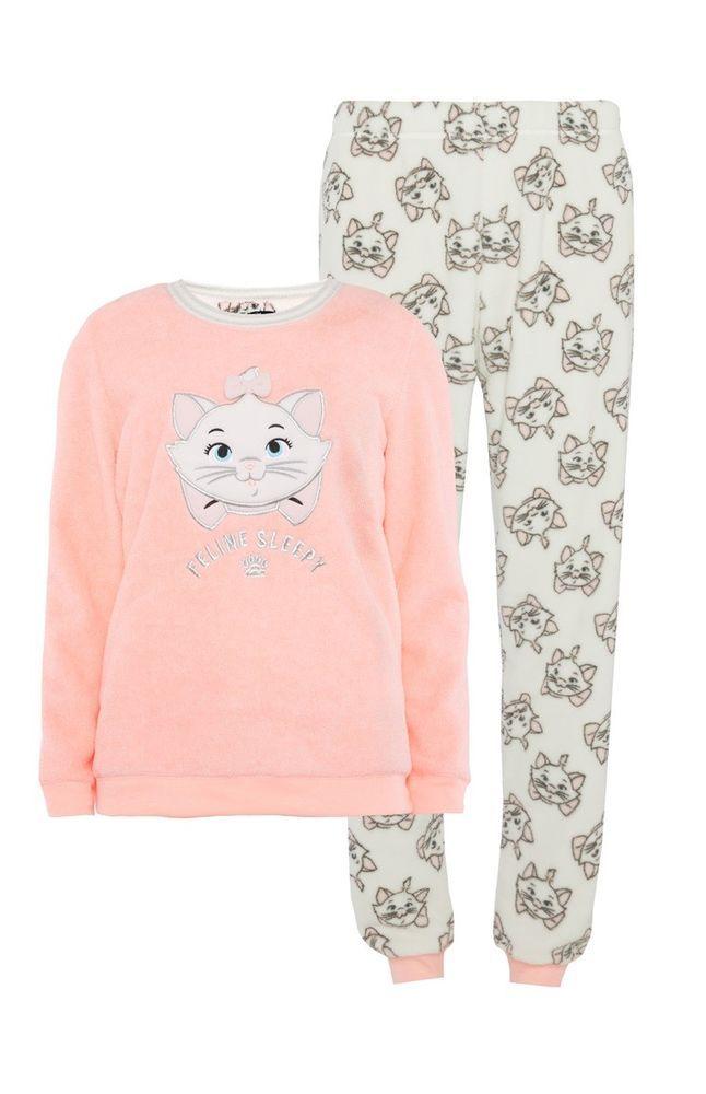 e4f2eb384a Primark Ladies Disney Marie Aristocats Pyjamas Girls Pjs Set Top Bottoms  Pajamas | eBay