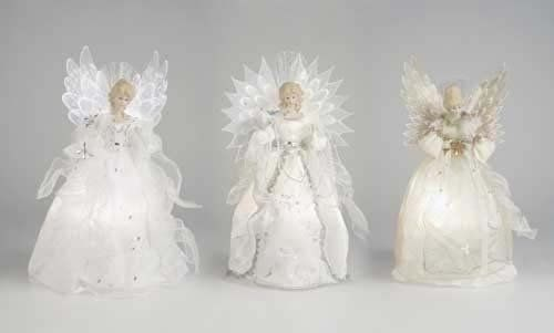 Fiber Optic Porcelain Angels