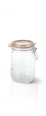 Le Parfait jars - made in France, lids/wires not interchangeable according to FAQ page