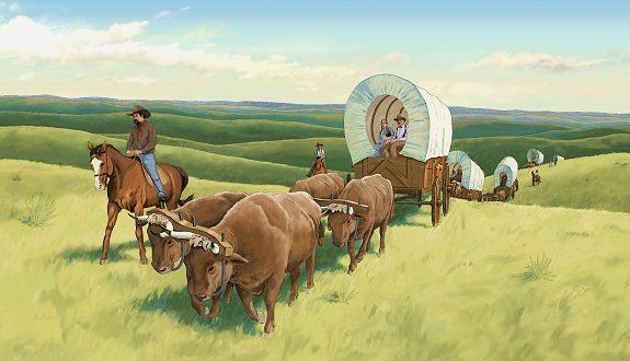 Pin By Bekah Fox On Wagons Old West Oregon Trail Train