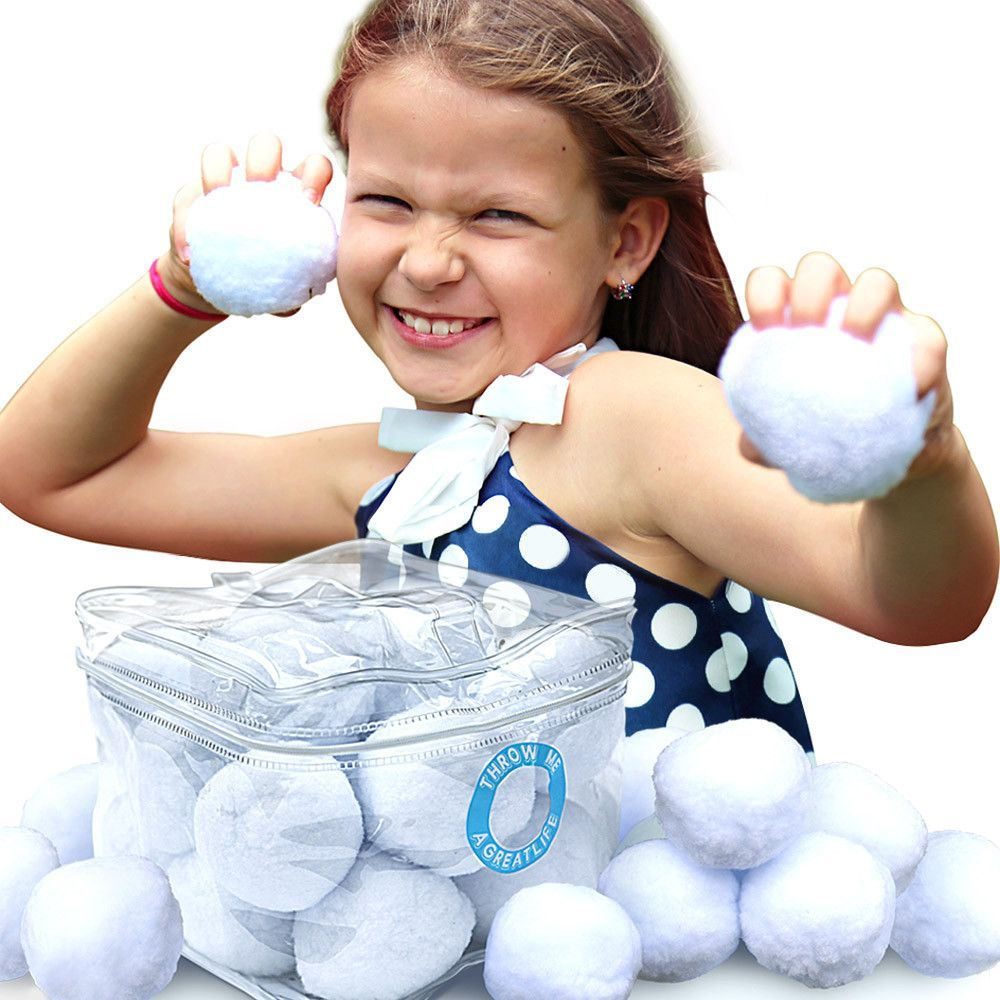 Indoor Snowball Fight Kit: A Cool Toy For Games And Activities That Never Melt - Safe For All Ages