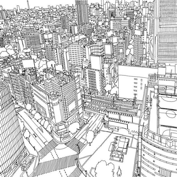 This Coloring Book Takes You To Fantastic Cities Both Real And Imagined Fantastic Cities Coloring Book Coloring Books Coloring Pages