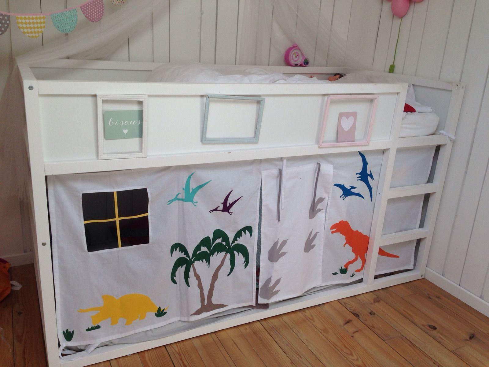 Rideau de lit Tente de lit Une cabane sous un lit mezzanine