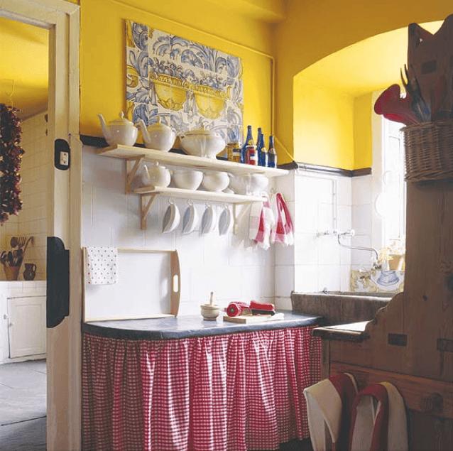 cocina-con-cortina-tradicional.png (638×635) | Decoración ...