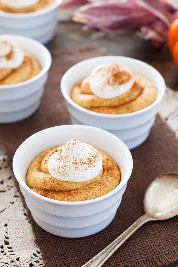 No-Bake Pumpkin Cheesecake MousseYou can't beat a no-bake dessert, especially when it's a pumpkin cheesecake mousse situation.  #refinery29 http://www.refinery29.com/best-pumpkin-cheesecake-recipes#slide-3