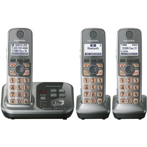 Panasonic Kx Tg7733s Dect 6 0 Link To Cordless Phone Cordless Telephone Wireless Telephone