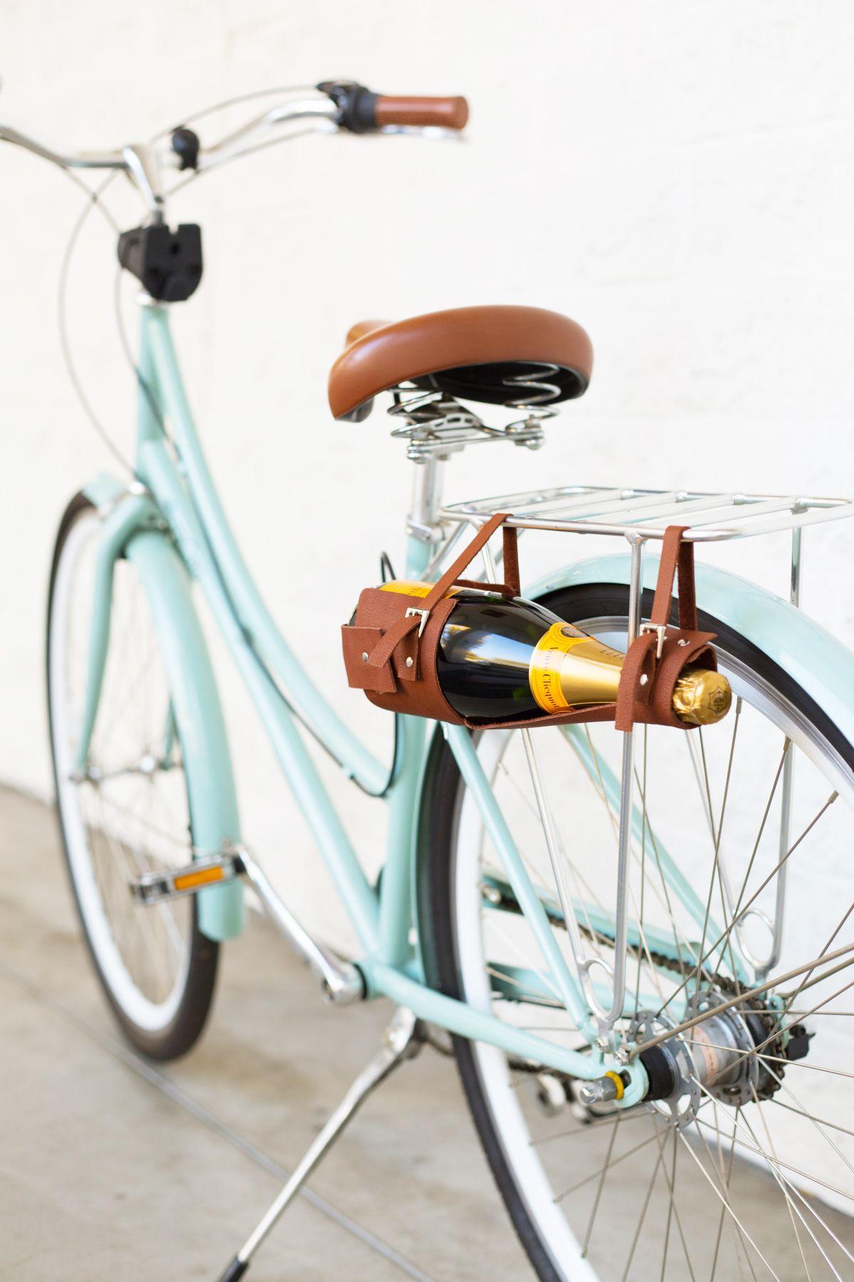 Diy wine bottle carrier bike giveaway lovely indeed