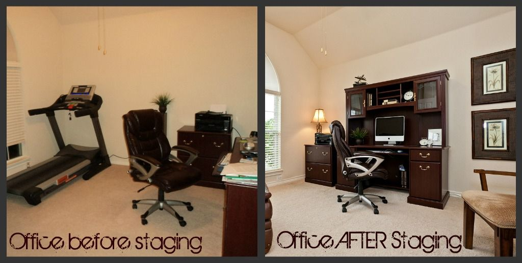 Superbe Before And After Photo Office Staging, Home Office Staging, Staging For  Photos, Staging To Sell Your Murphy TX Home, Reposition Furniture For  Optimal Buyer ...