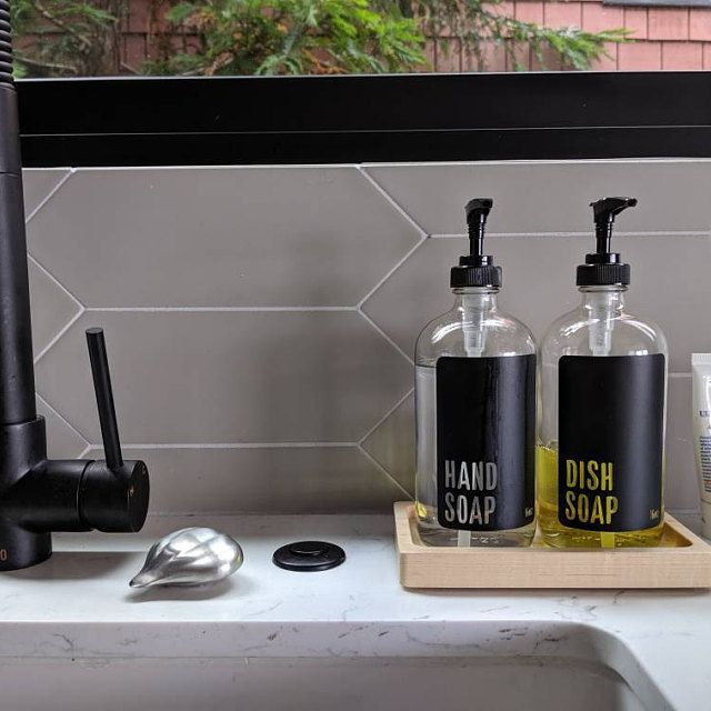 Clear Glass Hand Soap And Hand Lotion Dispenser Set Etsy Kitchen Soap Dispenser Glass Soap Dispenser Soap Dispenser