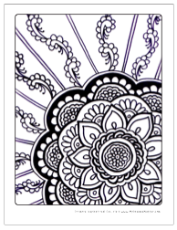Download Free Zen Flowers Adult Coloring Pages