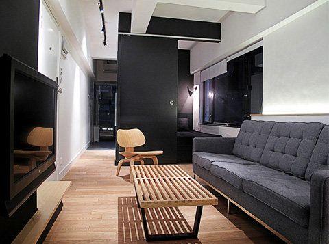 Tiny Apartment Hongkong Narrow Living Room Apartment Design Apartment Interior