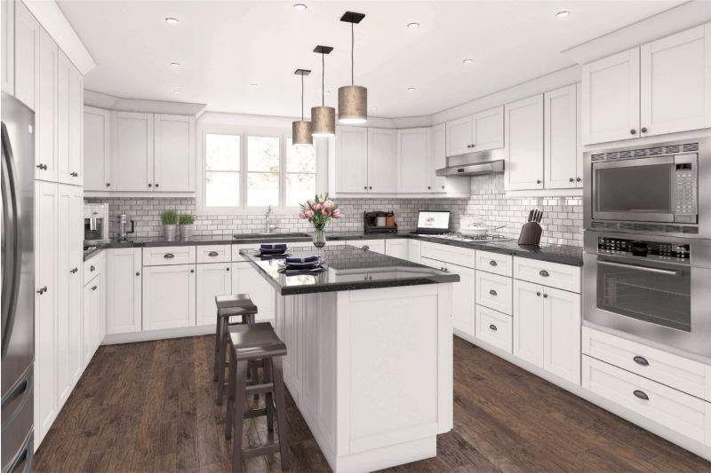 Aspen White Shaker Cabinets Best Selling Discounted Get A Free Design In 2020 White Shaker Cabinets White Shaker Kitchen Cabinets Shaker Cabinets