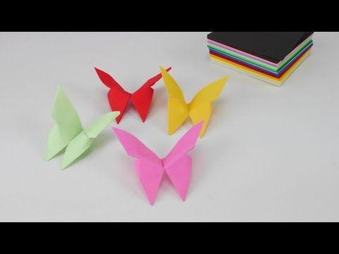 Basteln: Origami Schmetterling Falten Mit Papier / Bastelideen / DIY /  Basteltipps / Geschenkideen