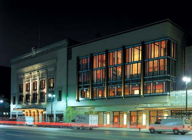 Detroit S Orchestra Hall The Max M Fisher Music Center Woodward Ave