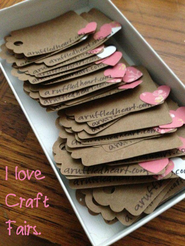 Hand Made Business Cards Bbj Craft Fair Ideas Pinterest Craft
