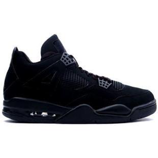 newest 92ff9 086bd www.asneakers4u.com 308497 002 Air Jordan 4 Black Cat Black Black A04002