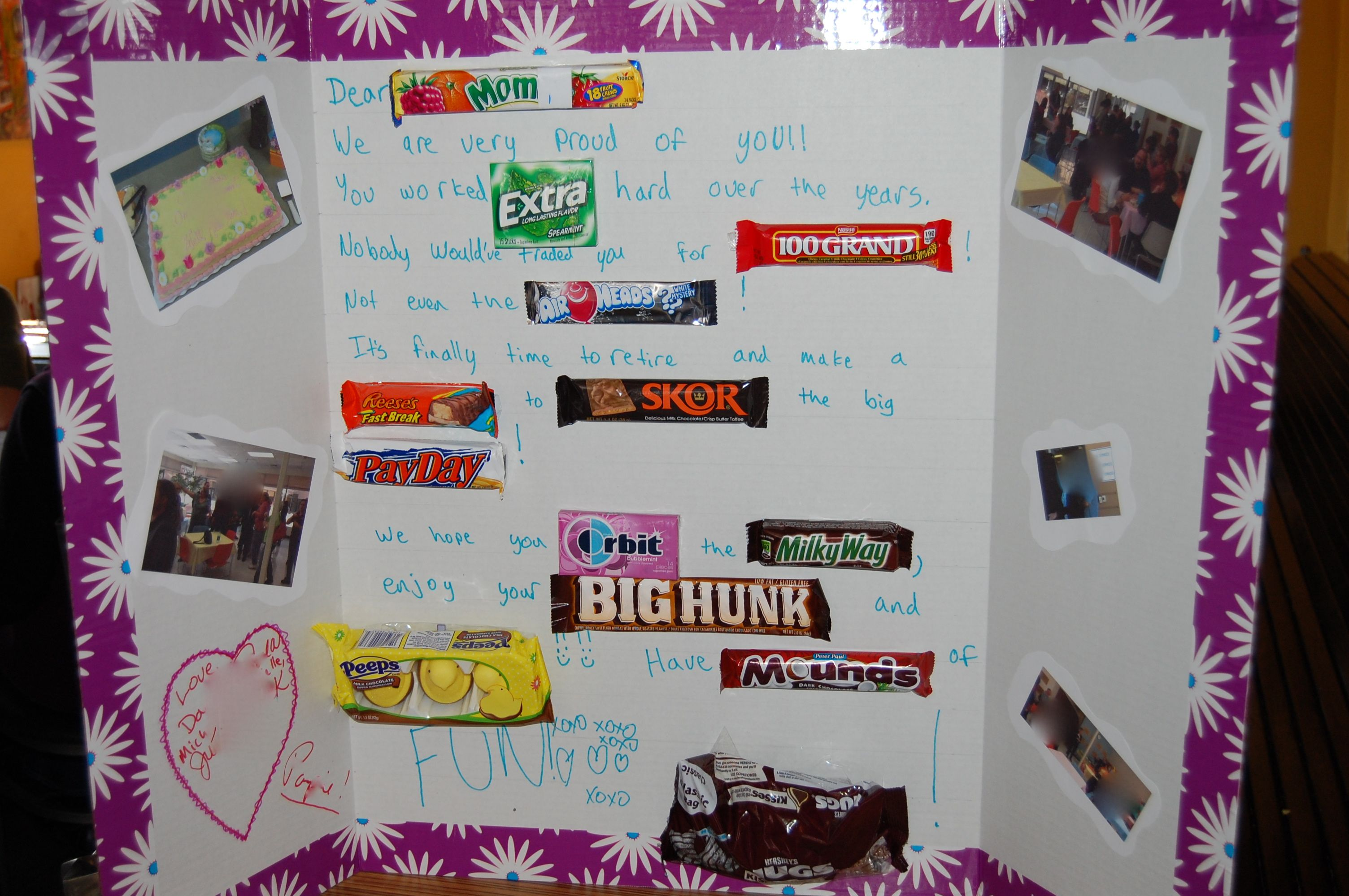 Candy Poster Board Retirement Gift For Mom Dad Or