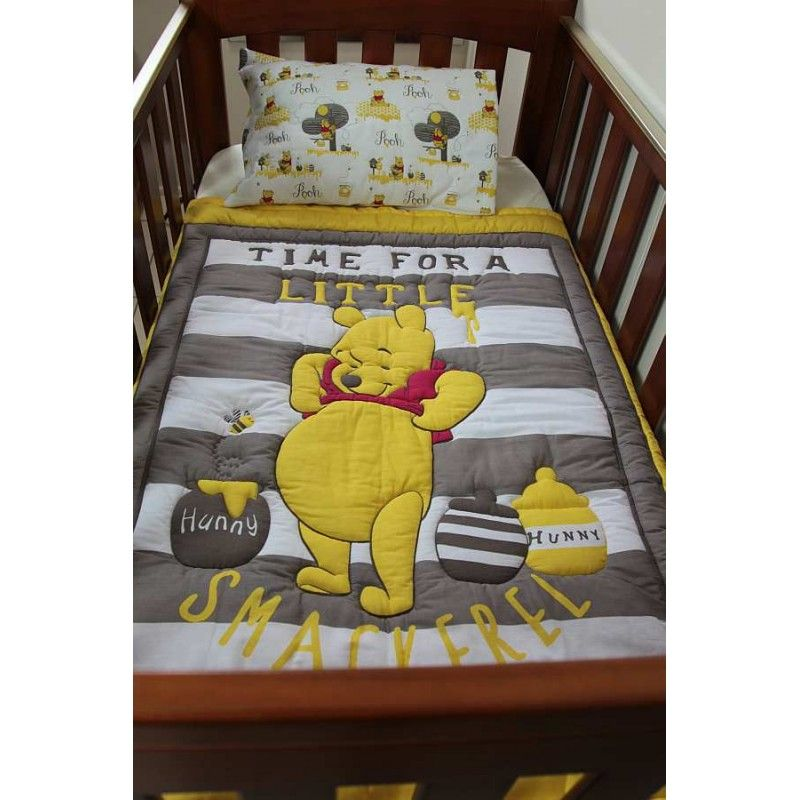 Quilt Baby Winnie The Pooh Honey Story With Matching Pillowcase