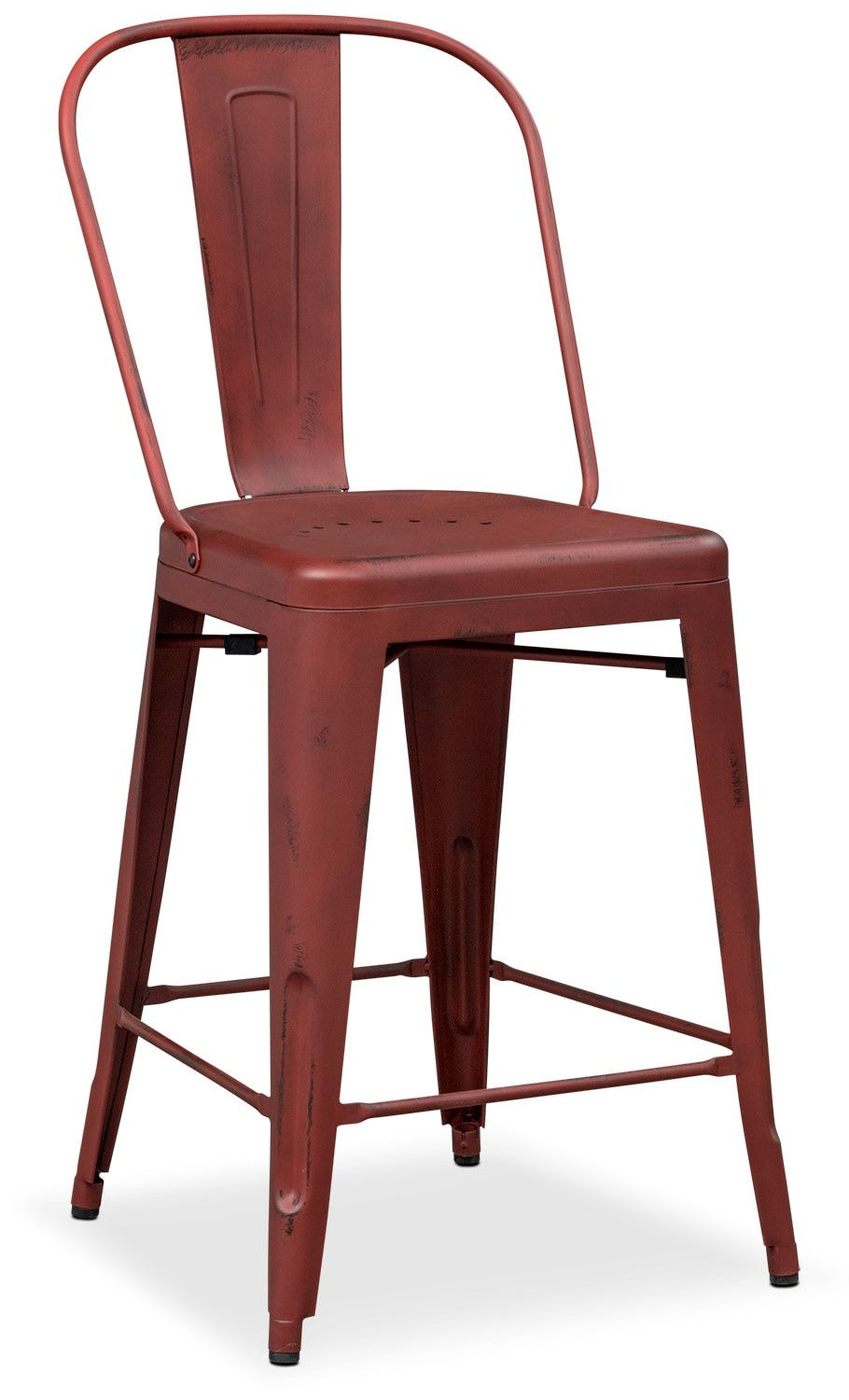120 at american signature furniture dining room furniture olin splat back barstool red