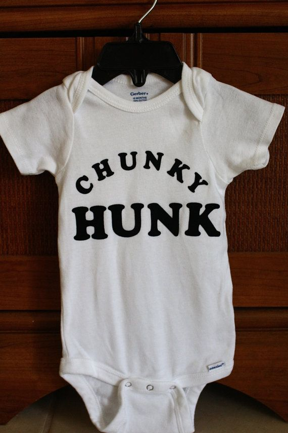 Cute/Funny Hand Designed Onesie Chunky Hunk by InTheArt on Etsy